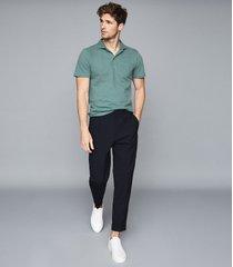 reiss beckton - textured polo shirt in apple, mens, size xxl