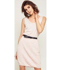 sukienka bez rękawów różowa