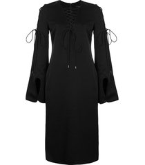ellery tie-detail shift dress - black