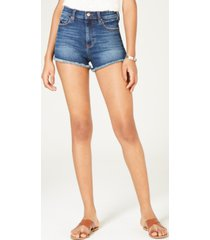 celebrity pink juniors' high-rise mom denim shorts