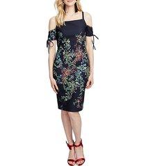 rosetta floral cold-shoulder dress