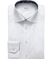 slim-fit button-down dress shirt