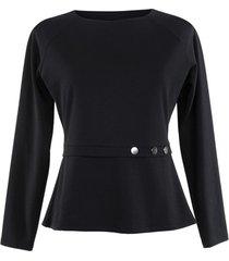 blouse lisca estelle lange mouwen top zwart