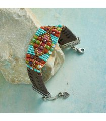 sundance catalog women's ride west beaded bracelet