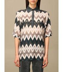 missoni polo shirt missoni polo shirt in zigzag jacquard fabric