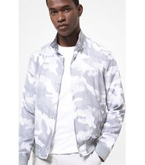 mk giacca harrington stampa camouflage - grigio perla (grigio) - michael kors