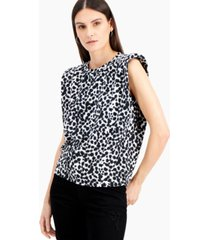 inc abstract-print boxy top, created for macy's