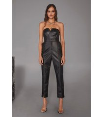 womens living for love high-waisted faux leather pants - black
