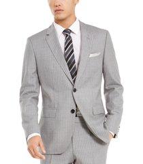 hugo by hugo boss men's slim-fit medium gray stripe suit separate jacket
