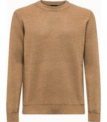 roberto collina maglia girocollo in lana a coste