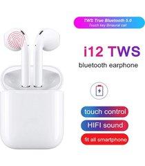 audifonos inalambricos bluetooth 5.0 i12 tactil airpods