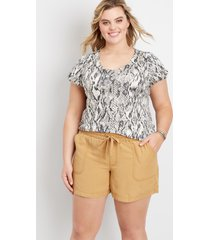 maurices plus size womens high rise pull on weekender 5.5in shorts