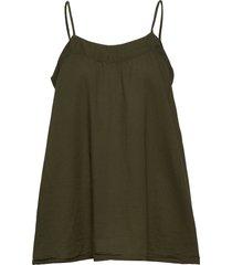 abisha blouse mouwloos groen rabens sal r