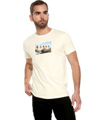 camiseta beige-multicolor jack & jones