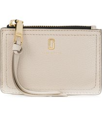 marc jacobs the softshot top-zip multi wallet - neutrals