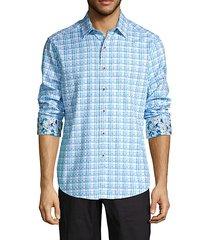 classic-fit plaid-print shirt
