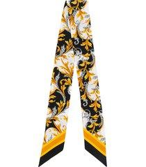 versace acanthus-print hair scarf - black