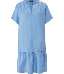 jurk 100% linnen korte mouwen van riani blauw