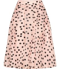 thea, 1012 meadow organza knälång kjol rosa stine goya