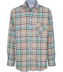overhemd roger kent groen::bruin::marine