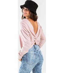 anellah knot back sweater - pink