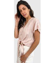blusa jacqueline de yong rosa - calce holgado