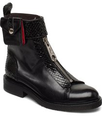 boots 4766 shoes boots ankle boots ankle boot - flat svart billi bi