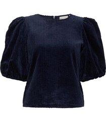 adeengz blouse ma20 blus långärmad blå gestuz