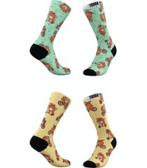 men's and women's hipster bears socks, set of 2