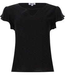 blusa unicolor con arandelas mujer color negro, talla m