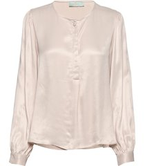 ines blouse blouse lange mouwen roze morris lady