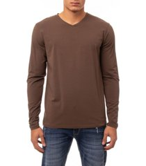 men's soft stretch v-neck long sleeve t-shirt