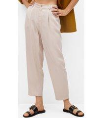 mango lyocell trousers