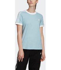 camiseta adidas 3 stripe originals azul - azul - feminino - dafiti