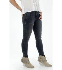jean para mujer topmark, silueta poppy tiro alto plano y cintura con pretina