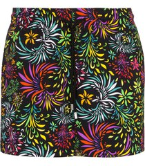 vilebrequin moorise evening birds printed swim shorts - black
