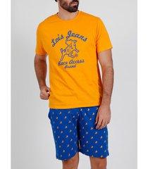 pyjama's / nachthemden admas for men pyjama kort t-shirt race access lois admas