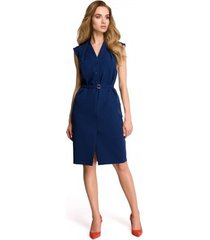 jurk style s102 mouwloze hemdjurk - marineblauw