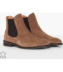 selected homme slhlouis suede chelsea boot b chelsea boots ljus brun