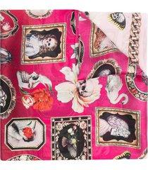 alexander mcqueen curiosities silk scarf