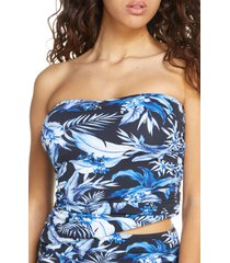 women's tommy bahama indigo garden bandeau tankini top