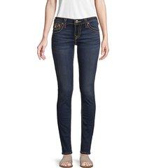 true religion women's stella low-rise skinny jeans - dark blue - size 23 (00)