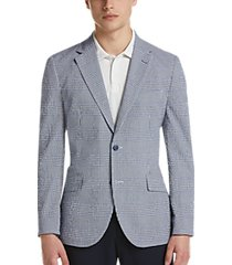 tailorbyrd blue plaid seersucker slim fit sport coat