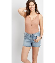 silver jeans co.® womens avery high rise fray hem 3in shorts blue denim - maurices