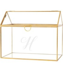 cathy's concepts personalized gold wedding glass terrarium reception gift card holder