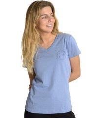 polera mujer w martha ss t-shirt azul merrell