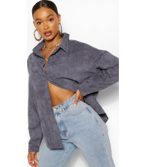 oversized corduroy blouse, denimblauw