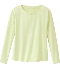 shirt met lange mouw van bio-katoen, lindegroen 44/46