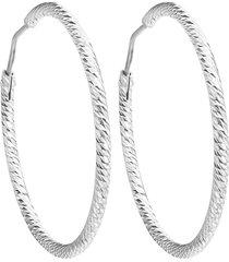 orecchini cerchio 30 mm in argento 925 rodiato per donna