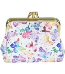 buxton women's soft butterfly pik-me-up triple frame wallet